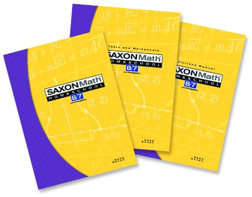 9781591413509: Saxon Math 8/7 with Prealgebra (Kit: Text, Test/Worksheets, Solutions Manual)