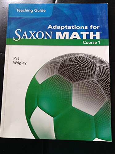 Adaption for Saxon Math Course One