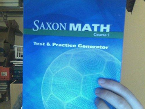 9781591418139: Saxon Math Course 1: Test & Practice CD-ROM Grade 6