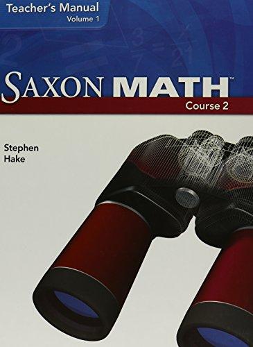 9781591418375: Saxon Math, Course 2, Teacher's Manual, Volume 1, 9781591418375, 1591418372, 2007
