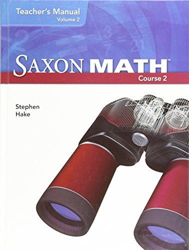 Saxon Math, Course 2: Teacher's Manual, Vol.: Hake, Steven