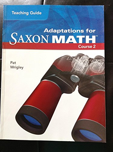 9781591418504: Teaching Guide Adaptations for Saxon Math Course 2