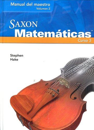 9781591418887: Math Spanish Course 3 TM Vol1