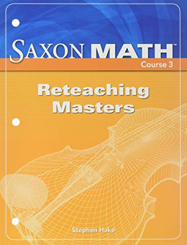 9781591419143: Saxon Math Course 3: Reteaching Masters
