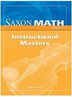 9781591419174: Saxon Math Course 3: Instructional Masters