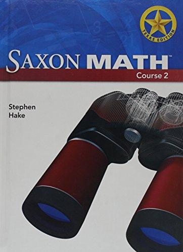 9781591419990: Saxon Math Course 2, Texas Edition