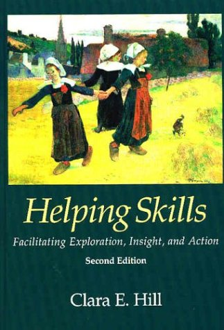 Helping Skills 9781591471042 Clara E. Hill has revised and updated her textbook, Helping Skills. The volume teaches empirically supported, basic helping skills to undergraduate and first-year graduate students. Following Hill's three-stage model of helping (Exploration, Insight, and Action), the text presents an integrative approach that is grounded in client-centered, psychoanalytic, and cognitive-behavioral theory. Hill's model recognizes the critical roles of affect, cognition, and behavior in the process of change, filling a void left by textbooks that focus narrowly on the processes facilitating change. Material new to this edition includes a revised Action stage, designed to enable instructors to incorporate the current thinking about this area; more attention to multicultural issues; and new measures to test the training model, which will allow students to evaluate their skills and level of confidence. With her accessible yet instructive style, Hill instills enthusiasm for the process of learning to help others. She also encourages students' personal and professional growth with questions that challenge them to think about and discuss the process of becoming helpers and their reasons for doing so.