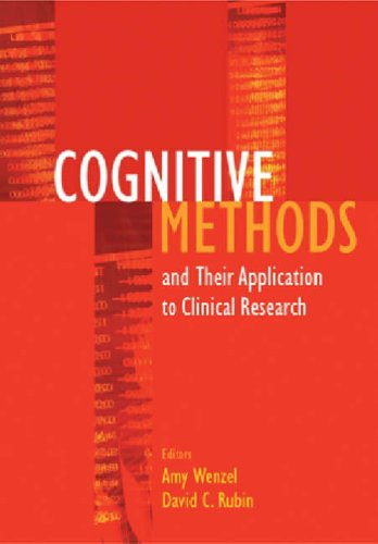 9781591471851: Cognitive Methods and Their Application to Clinical Research