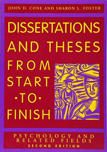 9781591473626: Dissertation and Theses from Start to Finish: Psychology and Related Fields