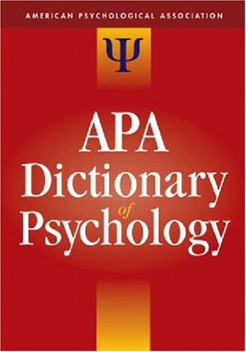 9781591473800: The APA Dictionary of Psychology