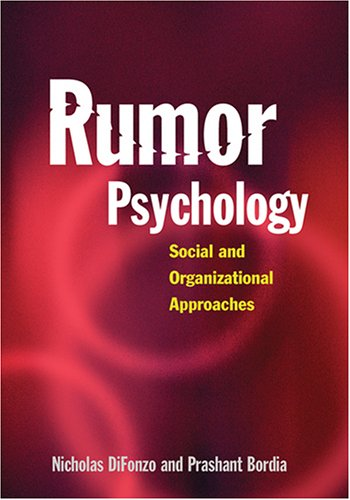 9781591474265: Rumor Psychology: Social And Organizational Approaches