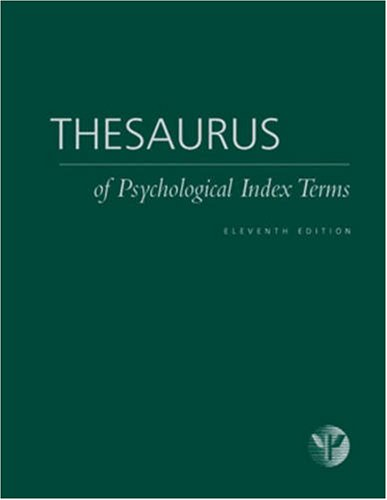Thesaurus of Psychological Index Terms: Lisa Gallagher Tuleya