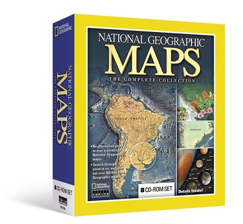 NATIONAL GEOGRAPHIC MAPS - THE COMPLETE COLLECTION. 8 CD-ROM set.