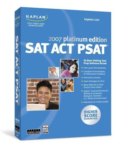 9781591509684: Kaplan Sat Act Psat 2007, Platinum Edition