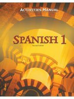 Spanish 1: Activities Manual (Spanish Edition) (1591661692) by Bob Jones University