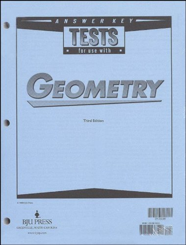9781591663522: Geometry Tests Answer Key Grd 10 3rd Edition