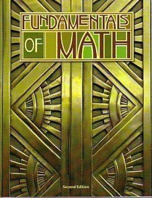 Fundamentals of Math Student Text: KATHY KOHLER, HAL