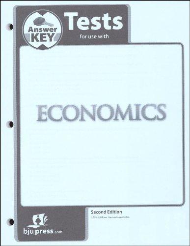 9781591664147: Economics Grade 12 Testpack Answer Key 2nd Edition