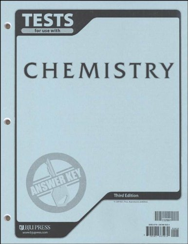 9781591665434: Chemistry Testpack Answer Key 3rd Edition