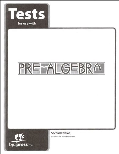 9781591665489: Pre-Algebra Grade 8 Test Pack 2nd Edition