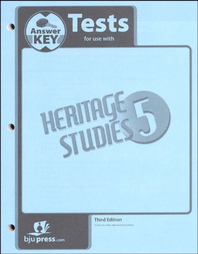 9781591665748: Heritage Studies Grade 5 Test Answer Key 3rd Edition