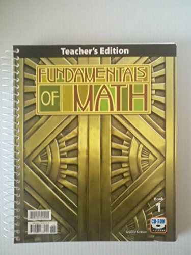 Fundamentals of Math Teacher's Edition with CD