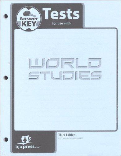 9781591669821: World Studies Test Answer Key 3rd Edition
