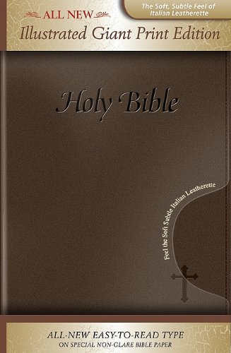 9781591779070: KJV Holy Bible, Giant Print, Illustrated, Italian Leatherette, Brown