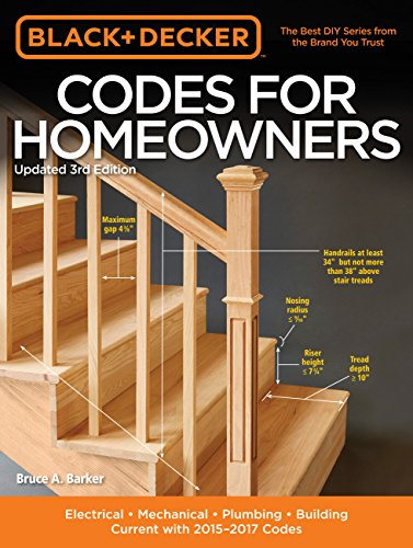 9781591869061: Black & Decker Codes for Homeowners, Updated 3rd Edition: Electrical - Mechanical - Plumbing - Building - Current with 2015-2017 Codes (Black & Decker Complete Guide)
