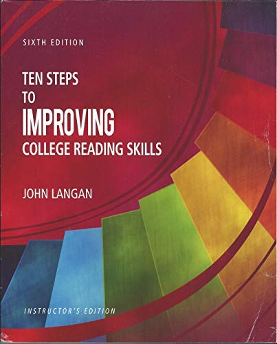 9781591944249: Ten Steps to Improving College Reading Skills Instructor's Edition