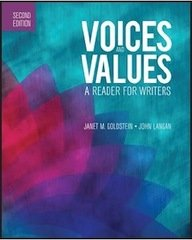 9781591944430: Voices and Values: A Reader for Writers