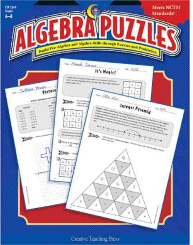 9781591982333: Algebra Puzzles Gr. 6-8