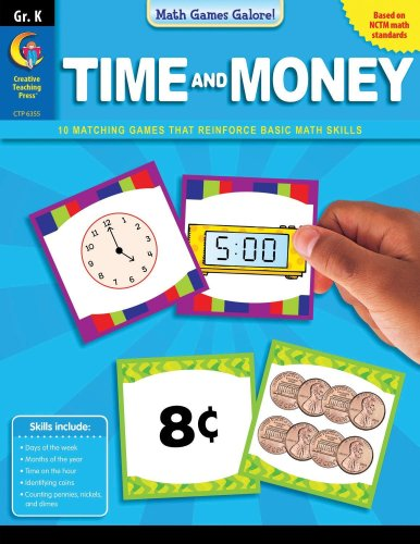 9781591989837: Math Games Galore: Time and Money, Gr. K