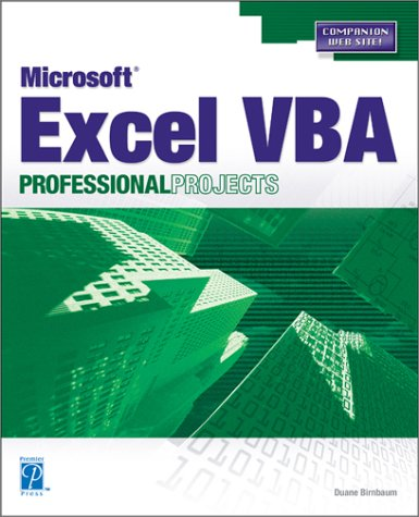9781592000654: Microsoft Excel VBA Professional Projects