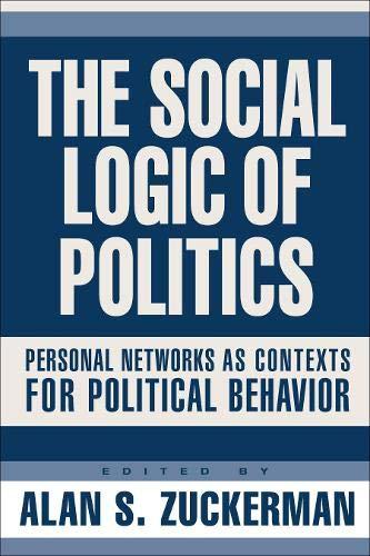 9781592131488: Social Logic Of Politics: Personal Networs As Contexts