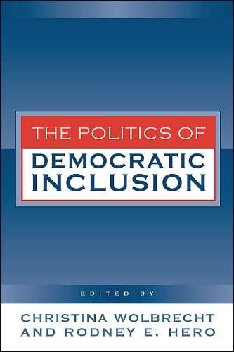 Politics of Democratic Inclusion: Wolbrecht, Christina