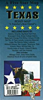 Texas Road Map: Maps, Five Star