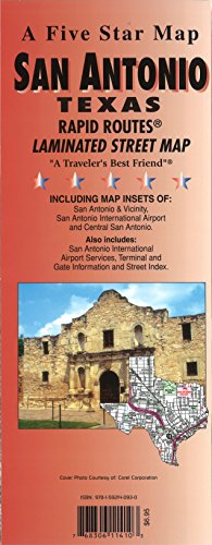 San Antonio, TX Rapid Routes: Five Star Maps;