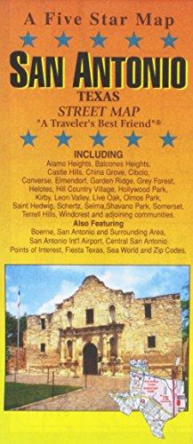 San Antonio, TX: Five Star Maps