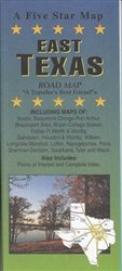 east Texas : road map: Five Star Maps