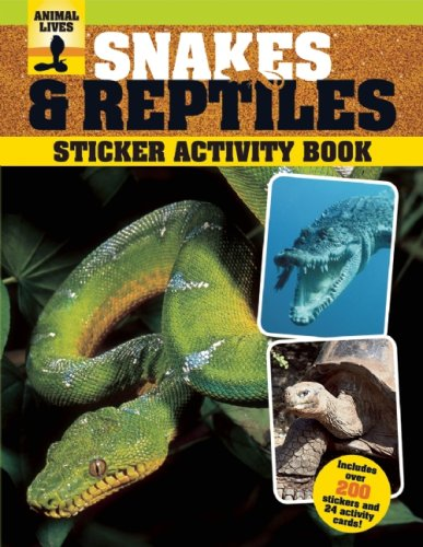 9781592239207: Snakes and Reptiles Sticker Activity Book (Animal Lives Sticker Activity Book)