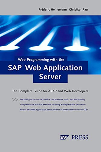 9781592290130: Web Programming with the SAP Web Application Server: The complete guide for ABAP and Web developers