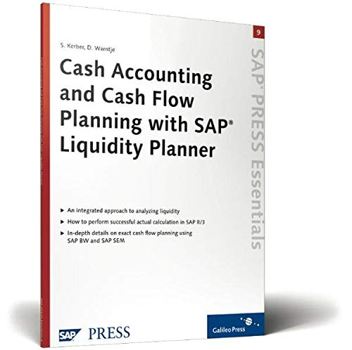 9781592290703: Cash Accounting and Cash Flow Planning with SAP Liquidity Planner: SAP PRESS Essentials 9
