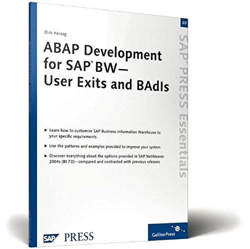 ABAP Development for SAP BW - User: Dirk Herzog