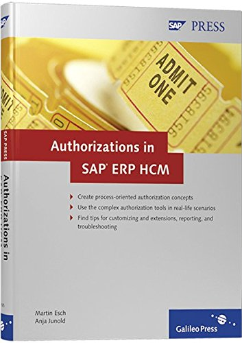 9781592291656: Authorizations in SAP ERP HCM: Design, Implementation, Operation