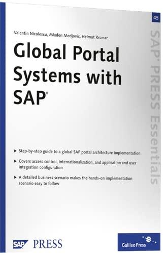 Global Portal Systems with SAP: SAP PRESS: Valentin Nicolescu Mladen