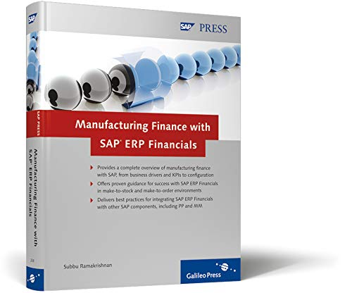 9781592292387: Manufacturing Finance with SAP ERP Financials
