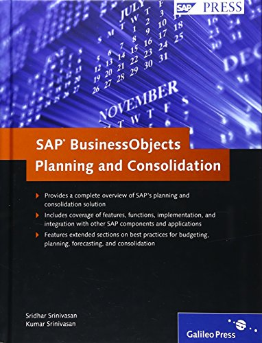 9781592292394: SAP Business Objects Planning and Consolidation