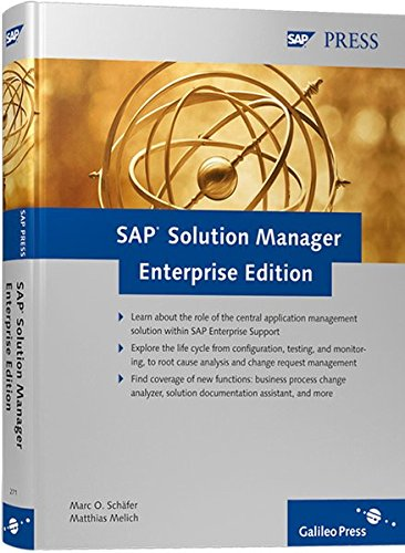 SAP Solution Manager Enterprise Edition: Marc O. Schäfer;
