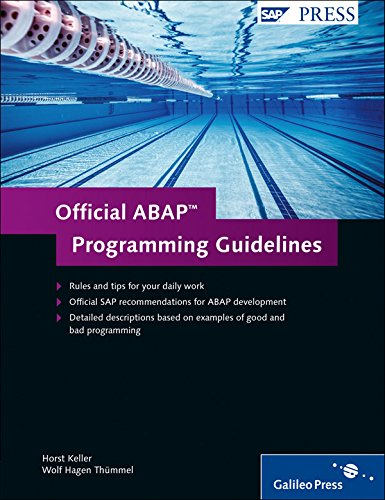 Official ABAP Programming Guidelines: Horst Keller